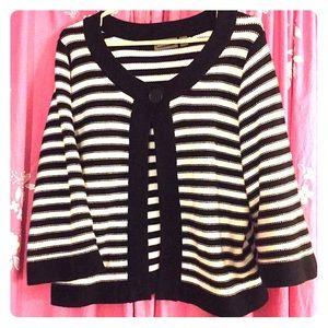 Croft & Barrow black and white striped sweater XL
